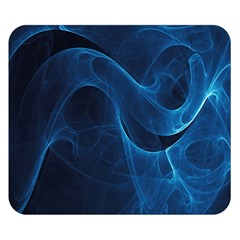 Smoke White Blue Double Sided Flano Blanket (small)  by Mariart