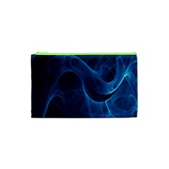 Smoke White Blue Cosmetic Bag (xs) by Mariart