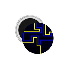 Tron Light Walls Arcade Style Line Yellow Blue 1 75  Magnets