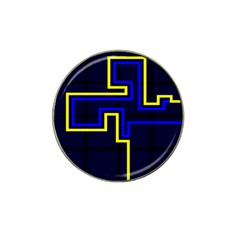 Tron Light Walls Arcade Style Line Yellow Blue Hat Clip Ball Marker by Mariart