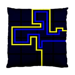Tron Light Walls Arcade Style Line Yellow Blue Standard Cushion Case (two Sides) by Mariart