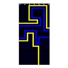 Tron Light Walls Arcade Style Line Yellow Blue Shower Curtain 36  X 72  (stall)  by Mariart