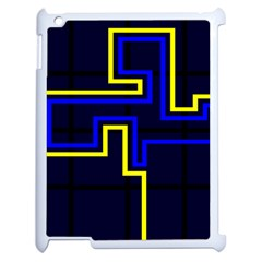 Tron Light Walls Arcade Style Line Yellow Blue Apple Ipad 2 Case (white) by Mariart