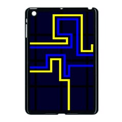 Tron Light Walls Arcade Style Line Yellow Blue Apple Ipad Mini Case (black) by Mariart