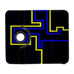 Tron Light Walls Arcade Style Line Yellow Blue Galaxy S3 (flip/folio) by Mariart