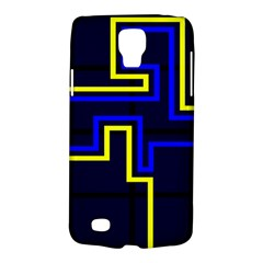 Tron Light Walls Arcade Style Line Yellow Blue Galaxy S4 Active by Mariart