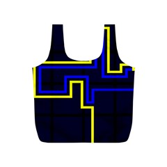 Tron Light Walls Arcade Style Line Yellow Blue Full Print Recycle Bags (s)  by Mariart