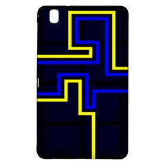 Tron Light Walls Arcade Style Line Yellow Blue Samsung Galaxy Tab Pro 8 4 Hardshell Case by Mariart
