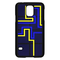 Tron Light Walls Arcade Style Line Yellow Blue Samsung Galaxy S5 Case (black) by Mariart