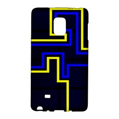 Tron Light Walls Arcade Style Line Yellow Blue Galaxy Note Edge by Mariart
