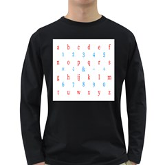 Source Serif Number Long Sleeve Dark T Shirts by Mariart