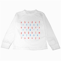 Source Serif Number Kids Long Sleeve T Shirts by Mariart