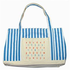 Source Serif Number Striped Blue Tote Bag by Mariart