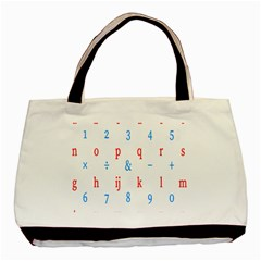 Source Serif Number Basic Tote Bag (two Sides) by Mariart