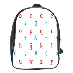 Source Serif Number School Bags(large)  by Mariart