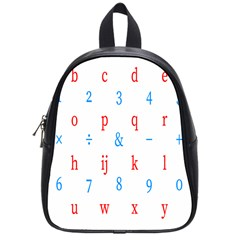 Source Serif Number School Bags (small)  by Mariart