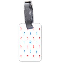 Source Serif Number Luggage Tags (one Side)  by Mariart