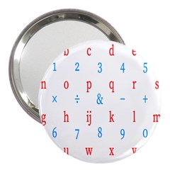 Source Serif Number 3  Handbag Mirrors by Mariart