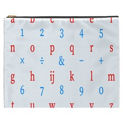 Source Serif Number Cosmetic Bag (xxxl)  by Mariart