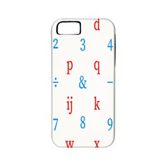Source Serif Number Apple Iphone 5 Classic Hardshell Case (pc+silicone) by Mariart