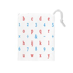 Source Serif Number Drawstring Pouches (medium)  by Mariart
