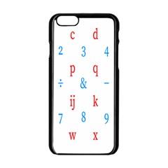 Source Serif Number Apple Iphone 6/6s Black Enamel Case by Mariart