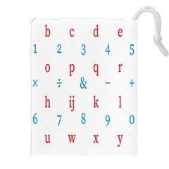 Source Serif Number Drawstring Pouches (xxl) by Mariart
