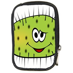 Thorn Face Mask Animals Monster Green Polka Compact Camera Cases by Mariart