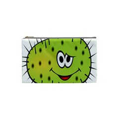 Thorn Face Mask Animals Monster Green Polka Cosmetic Bag (small)  by Mariart