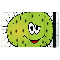 Thorn Face Mask Animals Monster Green Polka Apple Ipad 2 Flip Case by Mariart