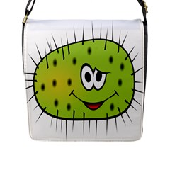 Thorn Face Mask Animals Monster Green Polka Flap Messenger Bag (l)  by Mariart