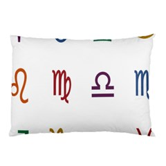Twelve Signs Zodiac Color Star Pillow Case (two Sides) by Mariart