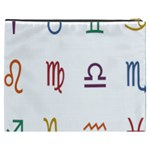 Twelve Signs Zodiac Color Star Cosmetic Bag (XXXL)  Back