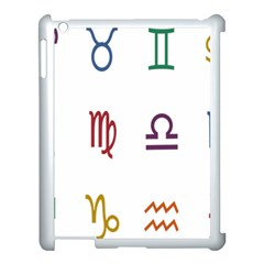 Twelve Signs Zodiac Color Star Apple Ipad 3/4 Case (white) by Mariart