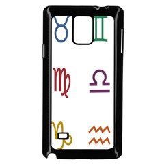 Twelve Signs Zodiac Color Star Samsung Galaxy Note 4 Case (black) by Mariart