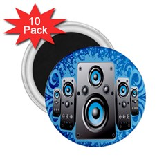 Sound System Music Disco Party 2 25  Magnets (10 Pack)  by Mariart