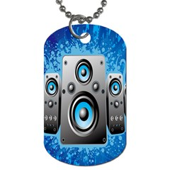 Sound System Music Disco Party Dog Tag (one Side) by Mariart
