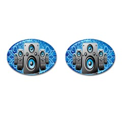 Sound System Music Disco Party Cufflinks (oval) by Mariart