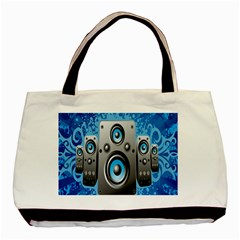 Sound System Music Disco Party Basic Tote Bag by Mariart