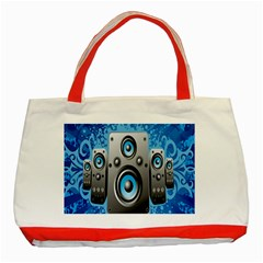 Sound System Music Disco Party Classic Tote Bag (red) by Mariart