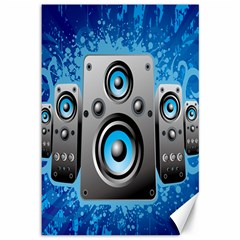 Sound System Music Disco Party Canvas 12  X 18   by Mariart