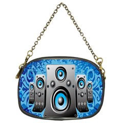 Sound System Music Disco Party Chain Purses (two Sides)  by Mariart