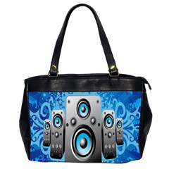 Sound System Music Disco Party Office Handbags (2 Sides)  by Mariart