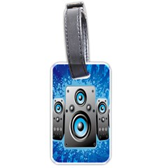 Sound System Music Disco Party Luggage Tags (one Side)  by Mariart