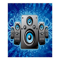 Sound System Music Disco Party Shower Curtain 60  X 72  (medium)  by Mariart