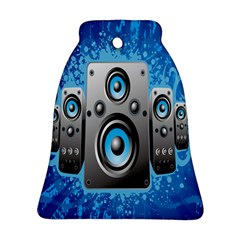 Sound System Music Disco Party Bell Ornament (two Sides) by Mariart