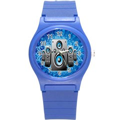Sound System Music Disco Party Round Plastic Sport Watch (s) by Mariart