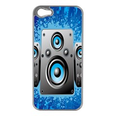 Sound System Music Disco Party Apple Iphone 5 Case (silver) by Mariart