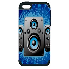 Sound System Music Disco Party Apple Iphone 5 Hardshell Case (pc+silicone) by Mariart
