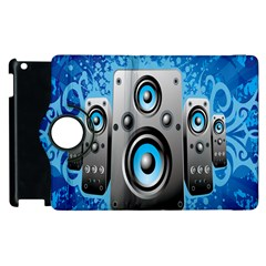 Sound System Music Disco Party Apple Ipad 3/4 Flip 360 Case by Mariart